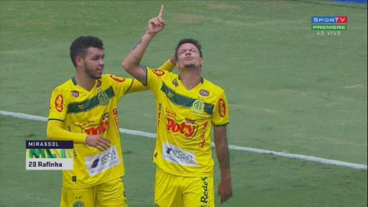 Veja o gol de Rafinha pelo Mirassol contra a Inter de Limeira