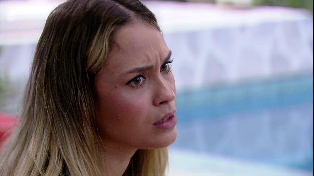 Sarah analisa possibilidade de Carla Diaz ir ao Paredão: 'Acho que essa semana não'