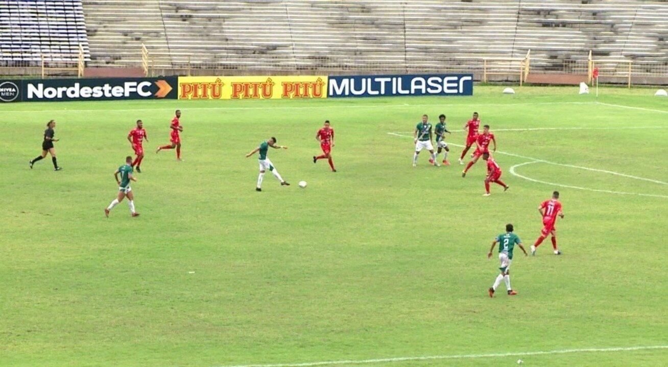Golaço de Manoel abre vitória do Altos por 2 a 0 sobre o 4 de Julho na Copa do Nordeste