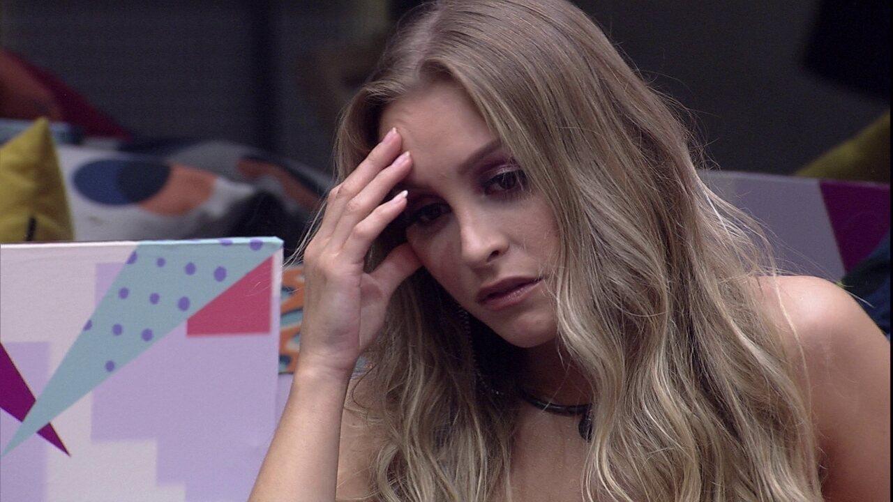 Carla Diaz afirma após ouvir declaração de Arthur no BBB21: 'Queria muito acreditar'
