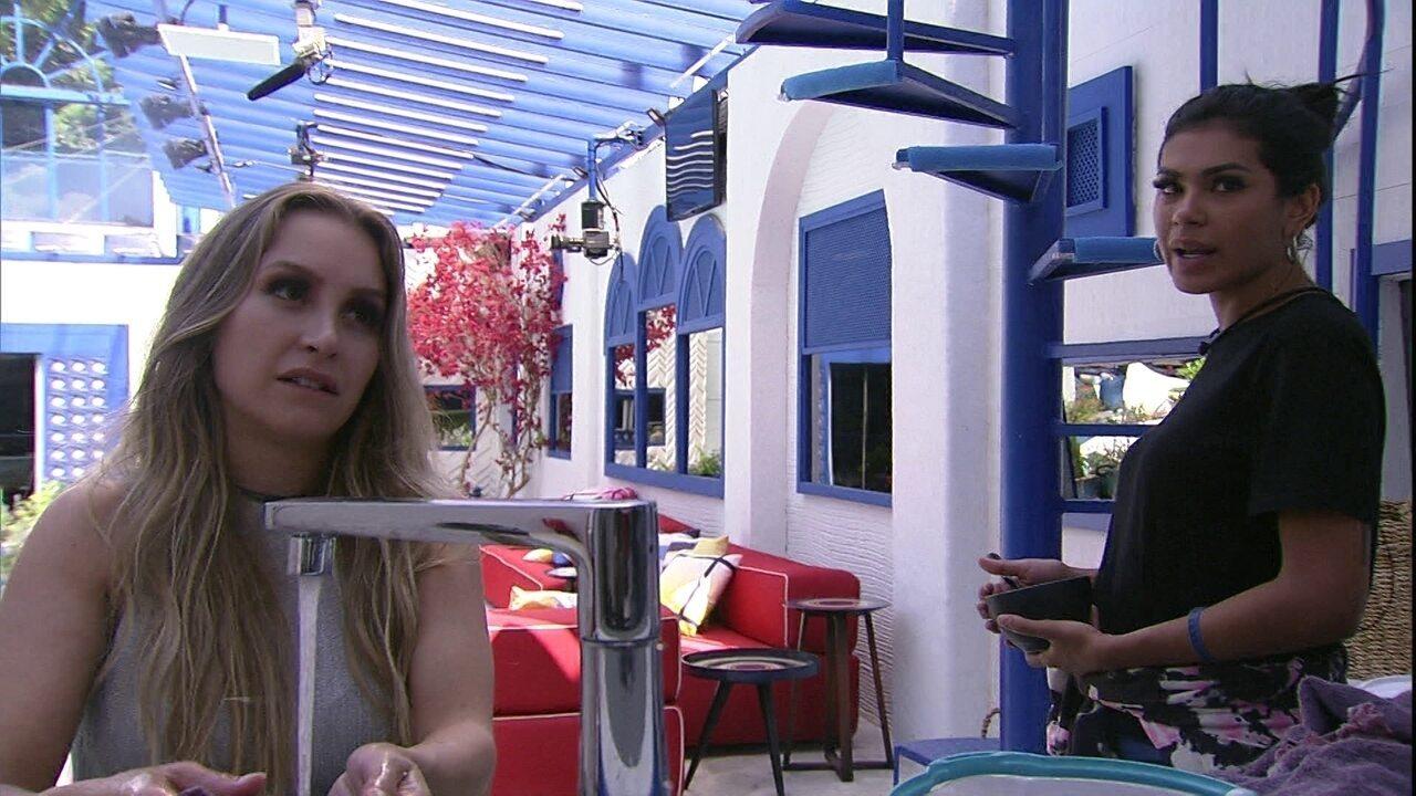 """Pocah comenta sobre Camilla de Lucas para outra sister no BBB21: ' Ela se fecha muito"""""""