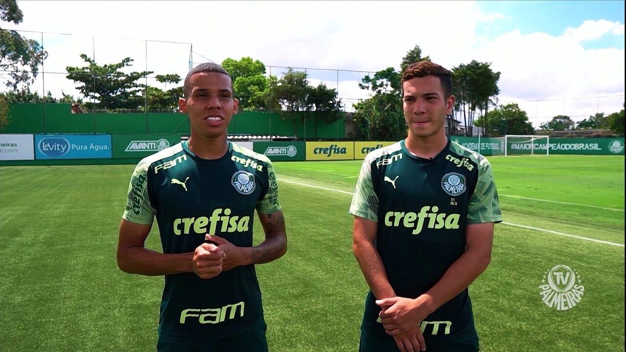 Amigos desde a infância, Garcia e Fabinho celebram momento no profissional do Palmeiras; veja entrevista recente