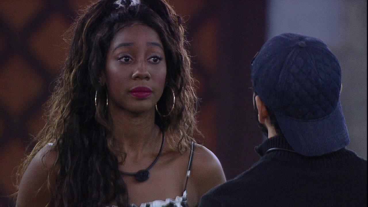 Camilla de Lucas conversa com Rodolffo sobre situação envolvendo João Luiz