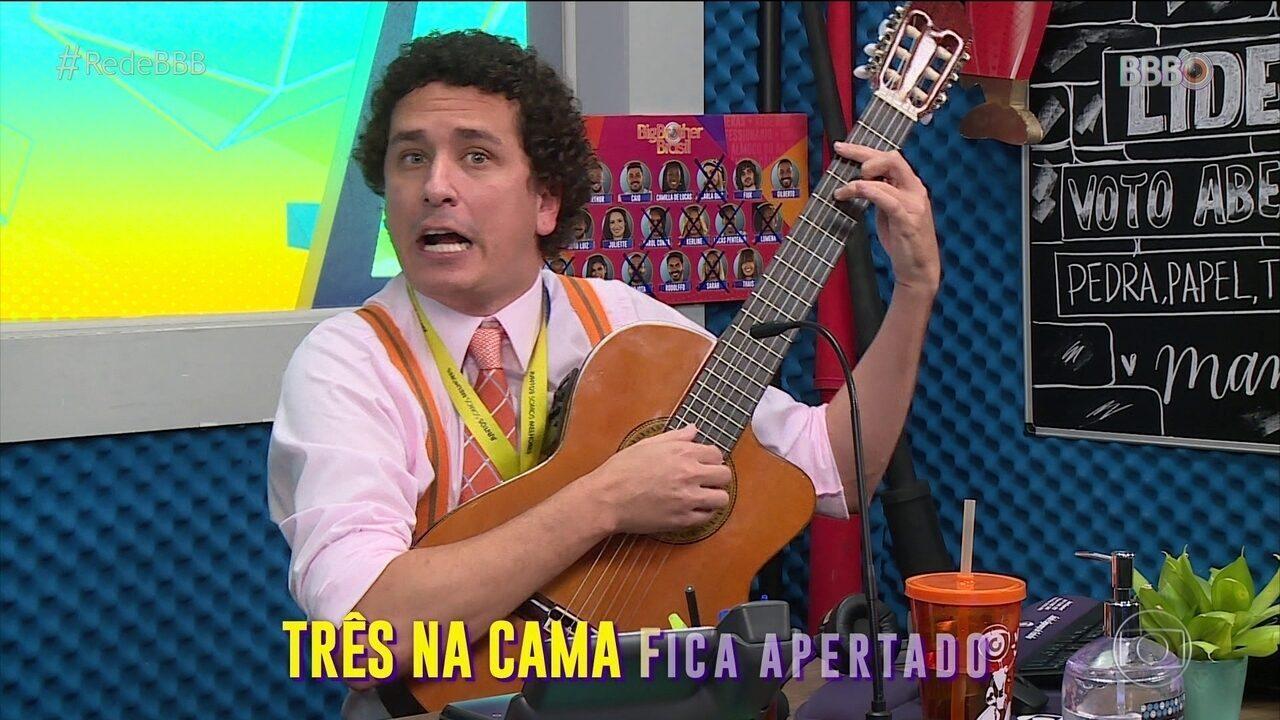 CAT BBB: Rafael Portugal faz música sobre a liderança de Viih Tube