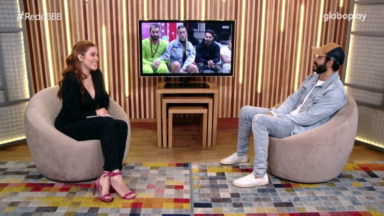 No Bate-Papo BBB, Rodolffo comenta desavenças no BBB21: 'Limpei minha alma com Gil'