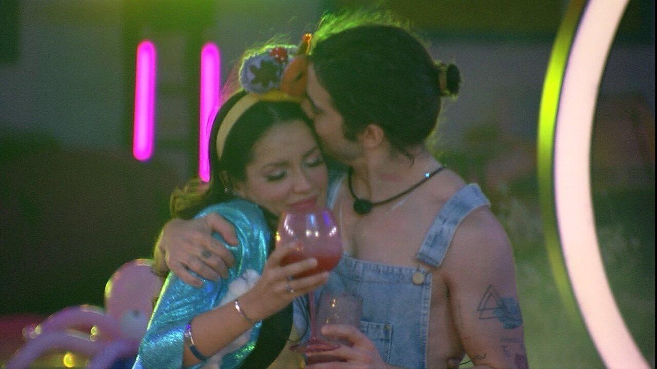 Fiuk declara para Juliette em Festa da Líder no BBB21: 'Eu demoro, mas eu reconheço'