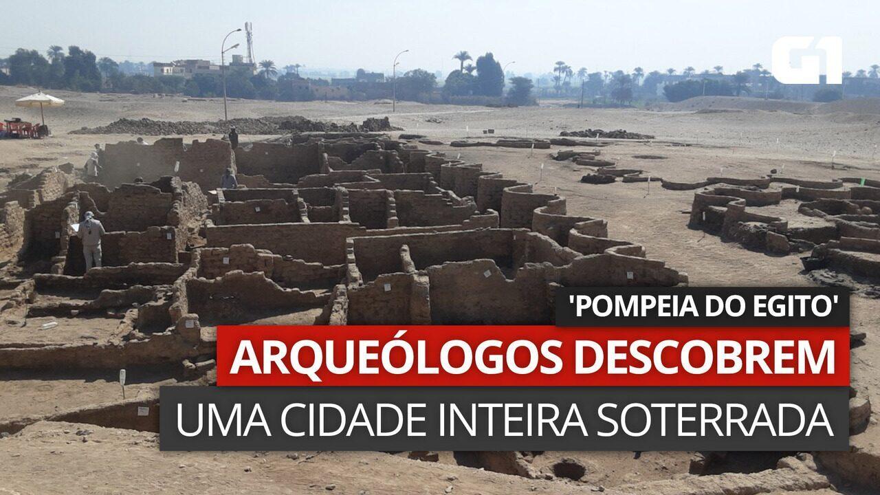 VÍDEO: Imagens mostram sítio apelidado por arqueólogos como 'Pompeia do Egito'
