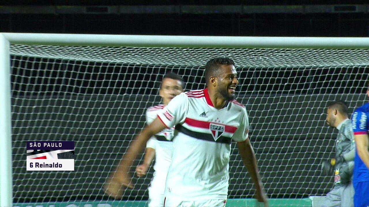 Veja gol marcado por Reinaldo na goleada sobre o São Caetano, pelo Paulistão
