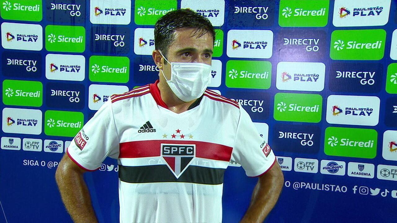 """Éder analisa estreia no São Paulo com gol: """"A idade é só um número"""""""