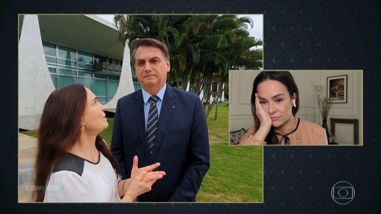 Gabriela Duarte sobre posições políticas da mãe Regina: 'Não somos a mesma pessoa'