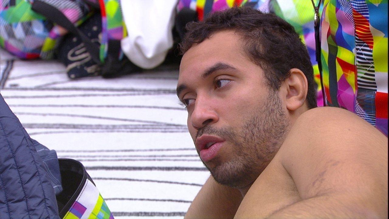 Gilberto sobre Paredão do BBB21: 'Tenho o risco de ser indicado direto'