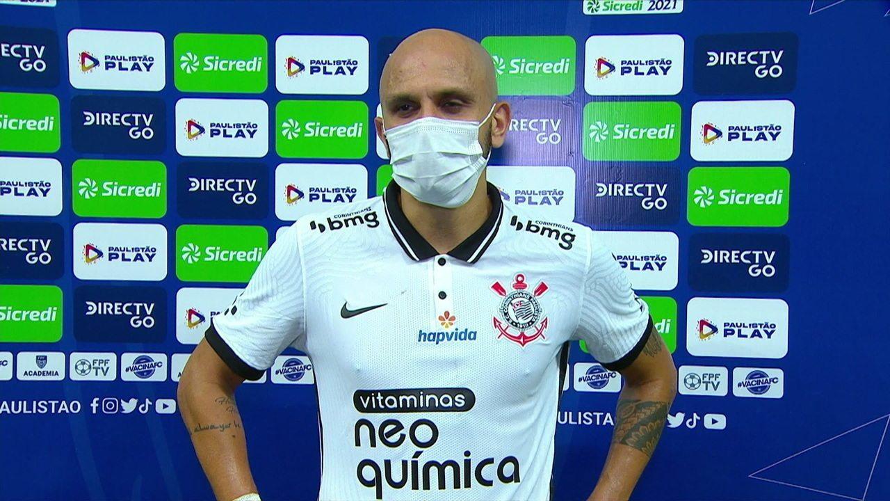 Fábio Santos analisa o empate do Corinthians com o São Bento
