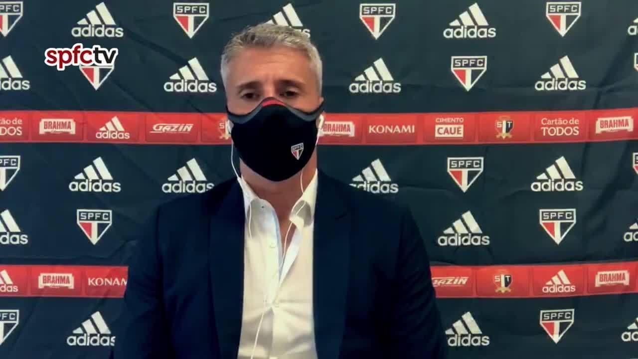 Veja a entrevista de Crespo, técnico do São Paulo, após vitória sobre o Palmeiras