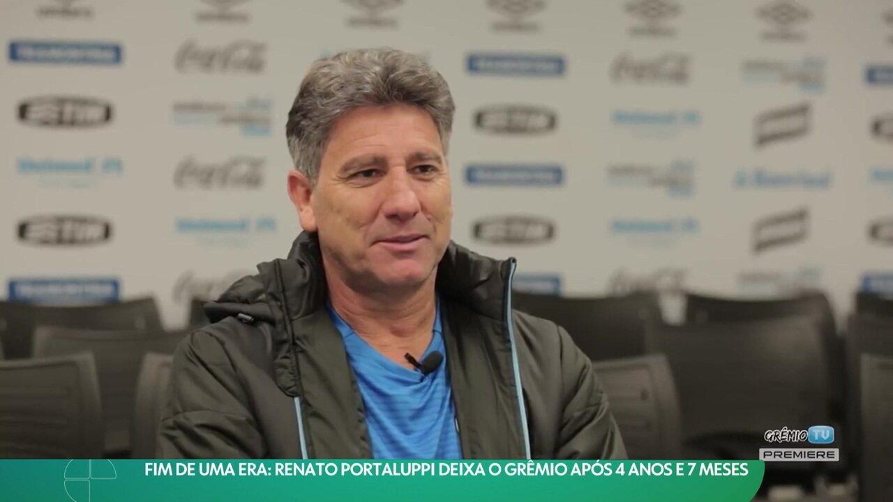 Fim de uma era: Renato Portaluppi deixa o Grêmio após quase cinco anos