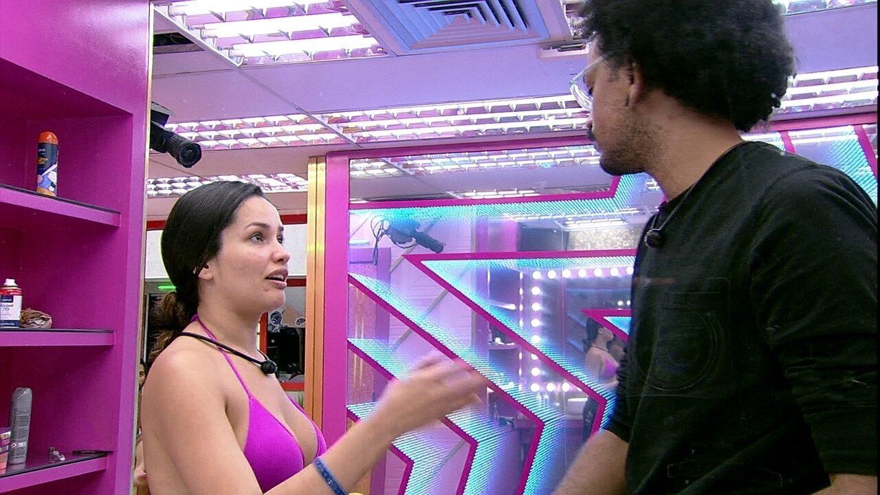 Juliette pede para João falar com Viih Tube após desentendimento: 'Ela não quer me ouvir'