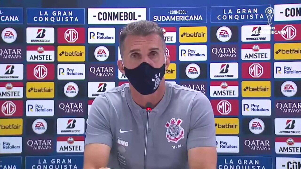 """Após eliminação, Mancini classifica derrota do Corinthians para o Peñarol como """"acidente de percurso"""""""