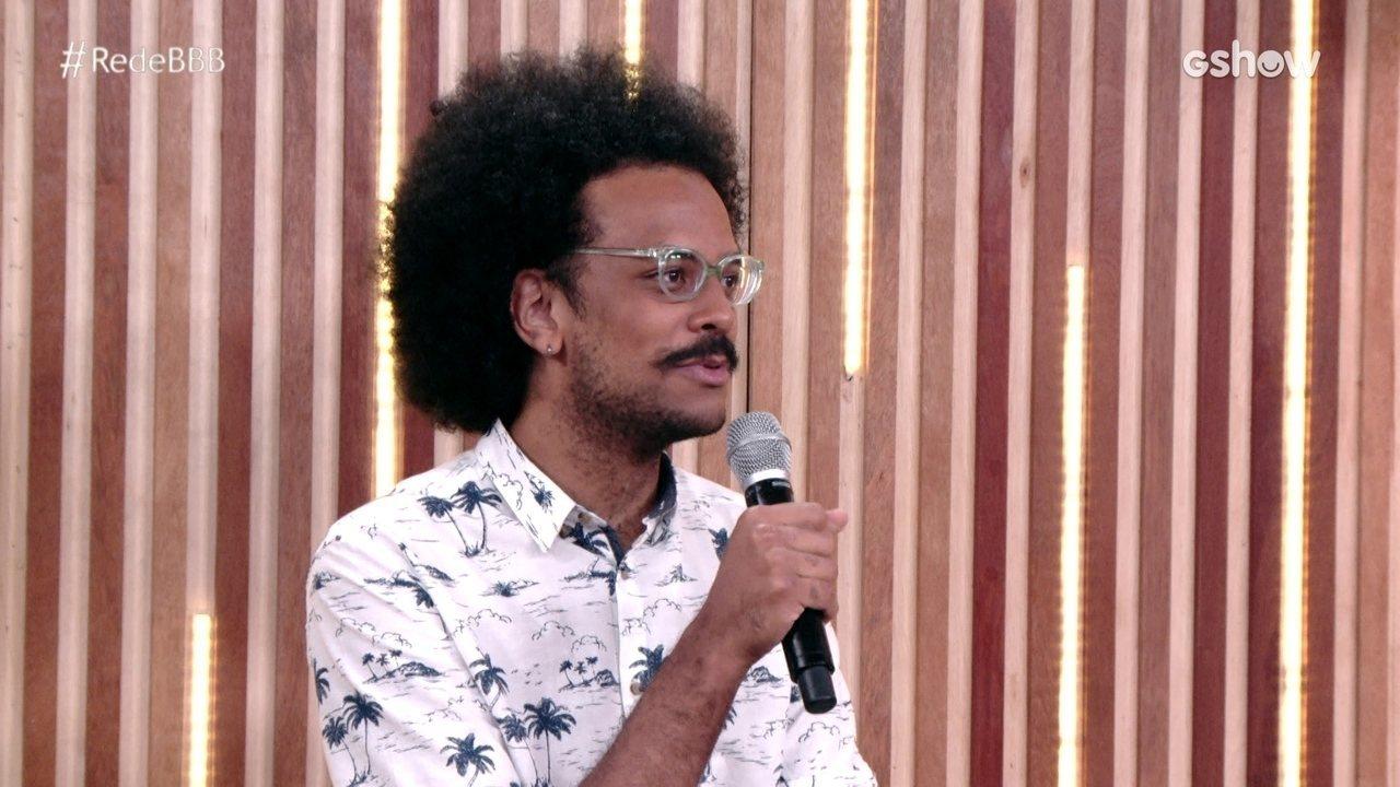 Na Mesa BBB, João Luiz diz que pretende se reconciliar com Pocah após BBB21