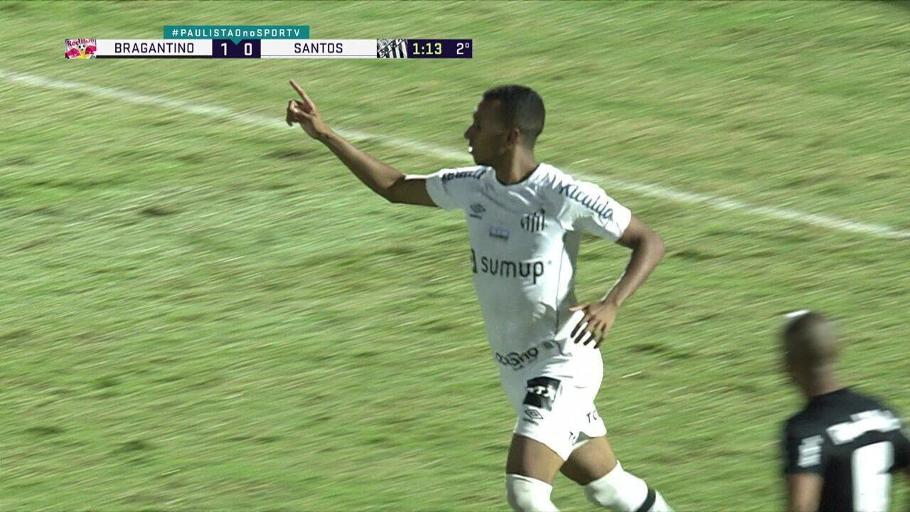 Melhores momentos: Bragantino 1 x 1 Santos pelo Campeonato Paulista
