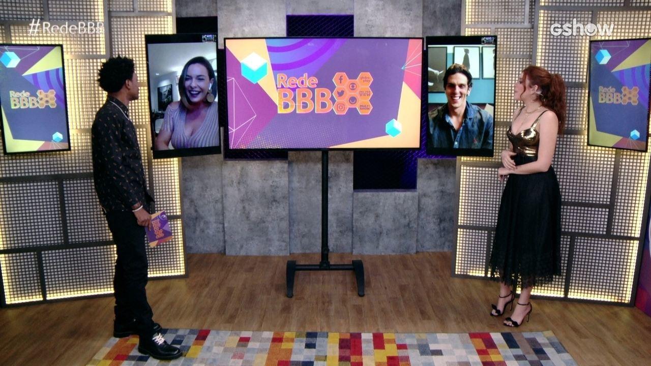 Começa o Tapete Vermelho BBB21 com Rafael Infante e Regiane Alves