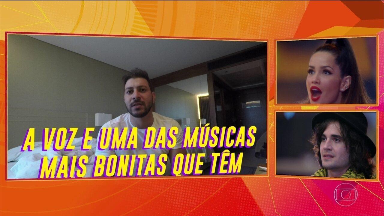 Finalistas seguem se divertindo com os melhores momentos do 'O Brasil tá vendo'