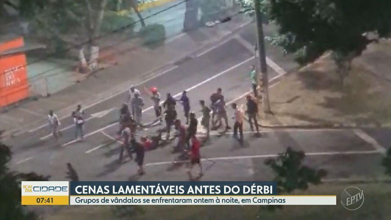 Vândalos torcedores se enfrentam e causam tumulto antes do Dérbi em Campinas