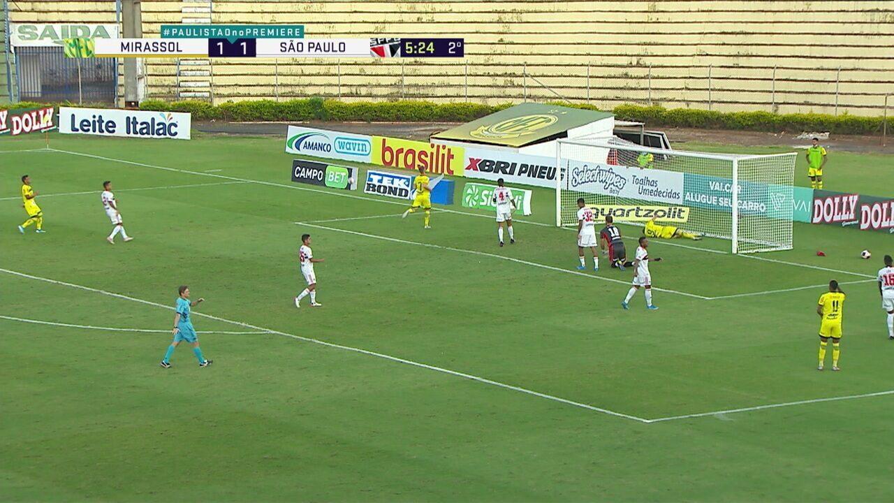 Melhores momentos de Mirassol 1 x 1 São Paulo pela 12º rodada do Campeonato Paulista
