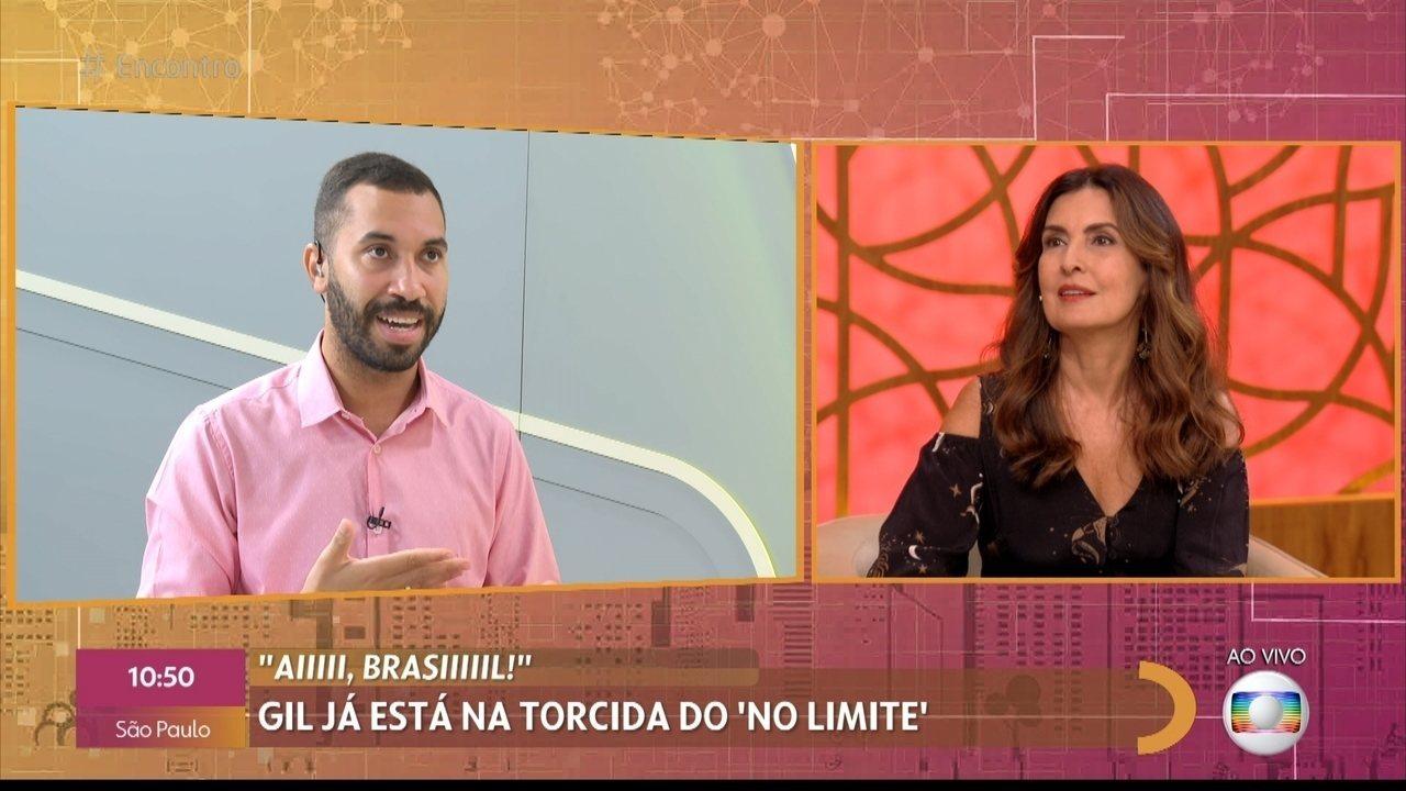 Gil do Vigor declara torcida por Elana no 'No Limite'