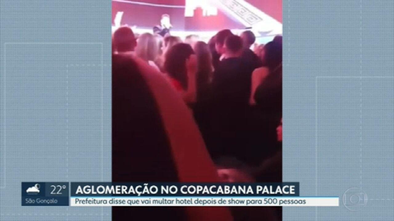 Prefeitura diz que vai multar Copacabana Palace por aglomeração