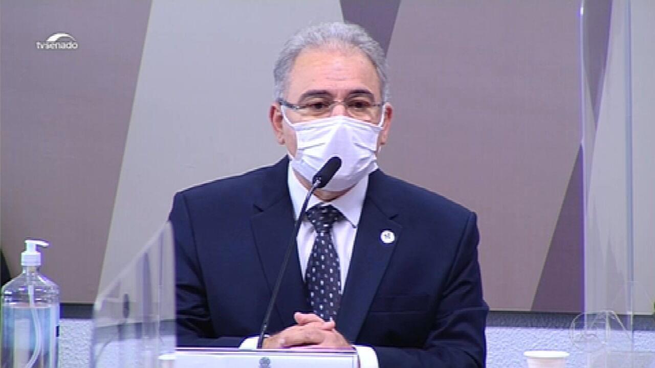 Queiroga diz na CPI que ainda não há vacina suficiente para imunizar toda população até o fim do ano