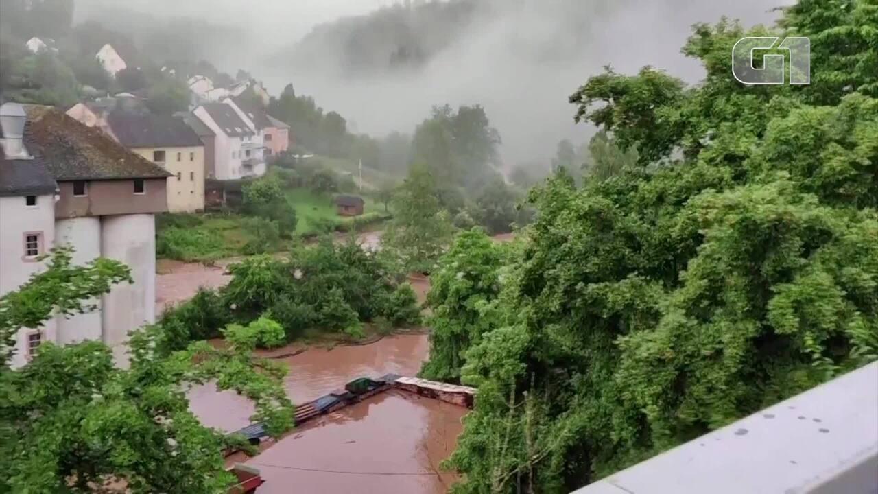 VÍDEO: Temporal causa inundações na Alemanha e na Bélgica; há mortos