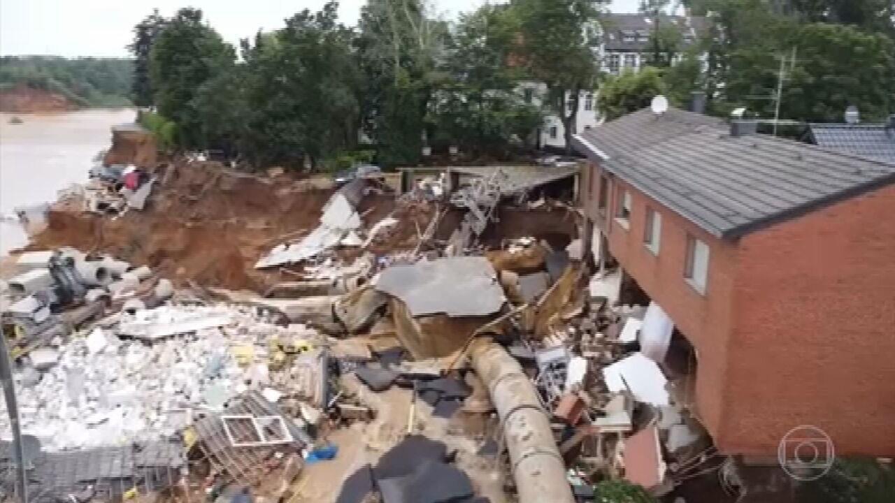 Enchentes na Europa já registram mais de 120 mortes; 1,3 mil estão desaparecidos somente na Alemanha