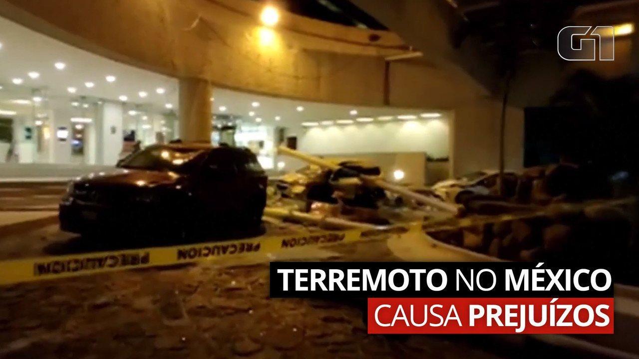 Terremoto no México causa prejuízos